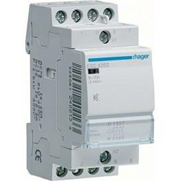 HAGER-CONTACTEUR SILENCIEUX ESC425S 25A 4NA 230 V