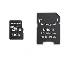 INTEGRAL ULTIMAPRO X264GO 280/100MB UHS-II V60MICROSDXC CARTE MÉMOIRE INMSDX64G-280/100U2