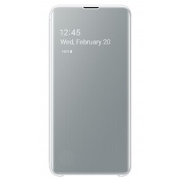 SAMSUNG CLEAR VIEW COVER BLANC GALAXY S 10 E